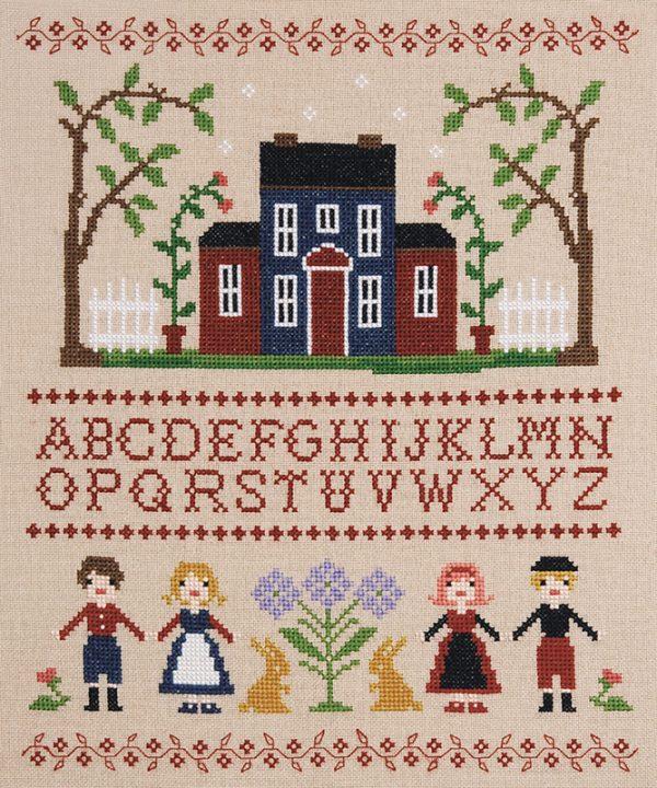 Набор для вышивки крестом Xiu crafts «Буквы и куклы» 2032409