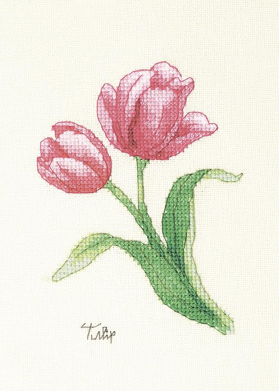 Набор для вышивки крестом Xiu crafts «Тюльпан» 2032403