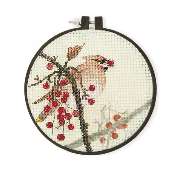 Набор для вышивки крестом Xiu crafts «Птица и сливы» 2032603