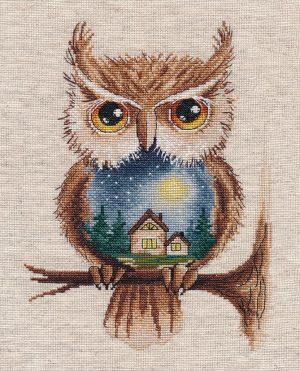 Набор для вышивания крестом Овен «Лунная ночь» 1368