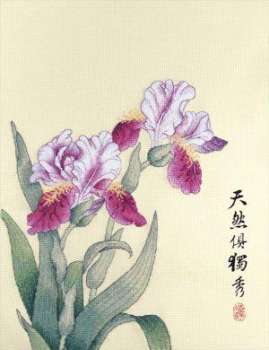 Набор для вышивки крестом Xiu crafts «Ирис» 2031903