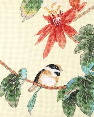 Набор для вышивки крестом Xiu crafts «Птица на ветке» 2031203