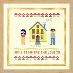 Набор для вышивки крестом Xiu crafts «Дом желтого цвета» 2870702