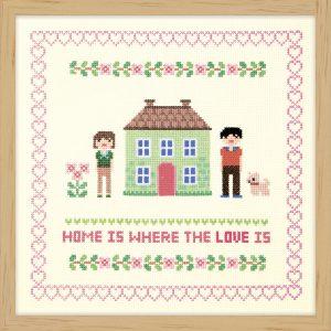 Набор для вышивки крестом Xiu crafts «Дом зелёного цвета» 2870703