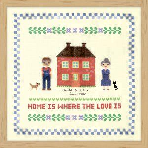 Набор для вышивки крестом Xiu crafts «Дом красного цвета» 2870704