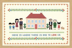 Набор для вышивки крестом Xiu crafts «Дом с красной крышей» 2870701