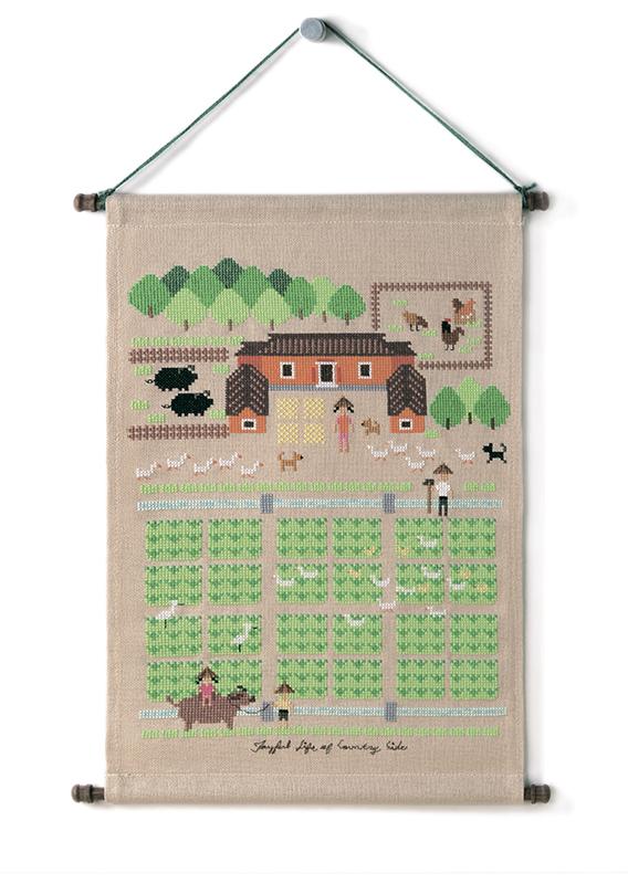 Набор для вышивки крестом Xiu crafts «Счастливая жизнь за городом»