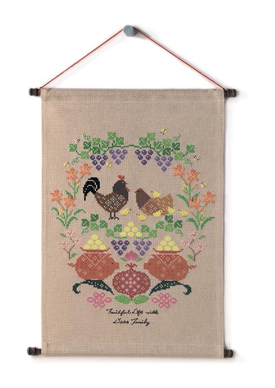 Набор для вышивки крестом Xiu crafts «Плодотворная жизнь с любимой семьёй» 2870903