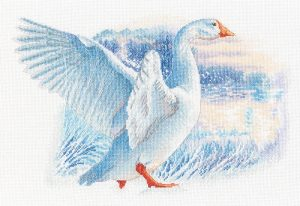 Набор для вышивки крестом РТО «Снежный гусь» M855