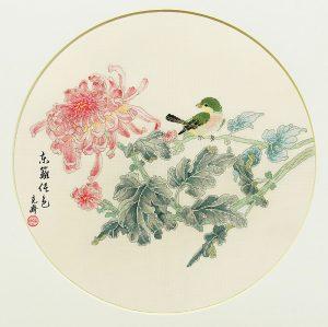 Набор для вышивки крестом Xiu crafts «Хризантемы» 2030821