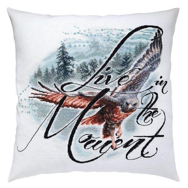 Набор для вышивки подушки РТО «Живи настоящим моментом» CU066