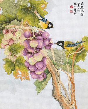 Набор для вышивки крестом Xiu crafts «Спелая гроздь винограда» 2030815