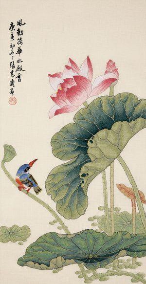 Набор для вышивки крестом Xiu crafts «Аромат лотоса» 2030812
