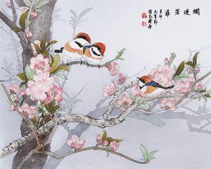 Набор для вышивки крестом Xiu crafts «Прелестный весенний день» 2030829