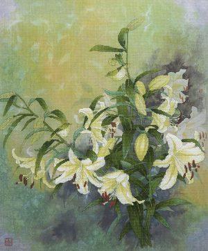 Набор для вышивки крестом Xiu crafts «Лилия в зеленой оправе» 2031207