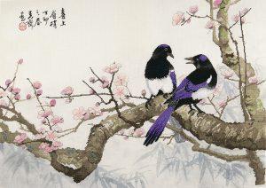 Набор для вышивки крестом Xiu crafts «Сороки на сливовом дереве» 2030801