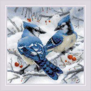 Набор для вышивания крестом Риолис «Голубые сойки» 1925
