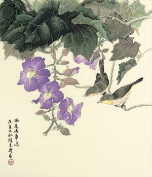 Набор для вышивки крестом Xiu crafts «Небесно-голубая лиана» 2030804