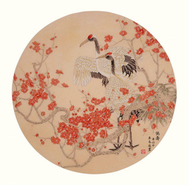 Набор для вышивки крестом Xiu crafts «Журавли и цветущая слива» 2031002