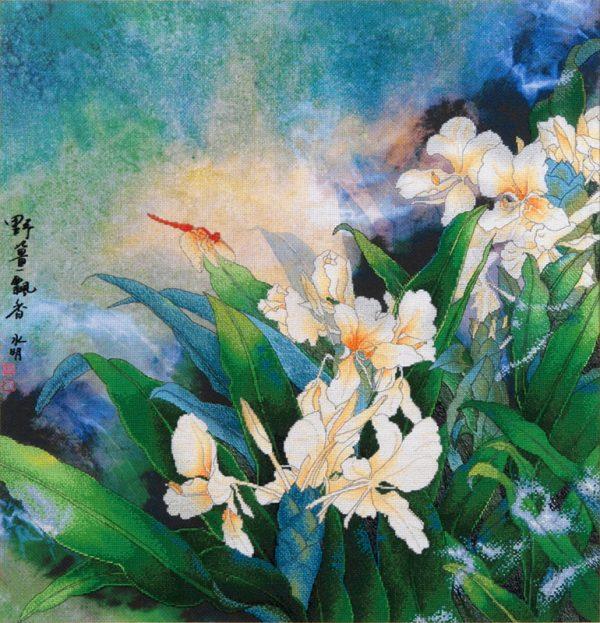 Набор для вышивки крестом Xiu crafts «Белая лилия» 2031201
