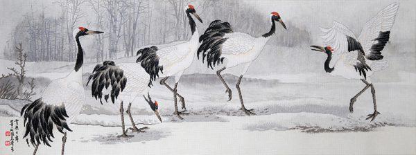 Набор для вышивки крестом Xiu crafts «Танцы на снегу» 2030807