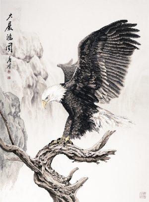 Набор для вышивки крестом Xiu crafts «Орел на вершине дерева» 2032102