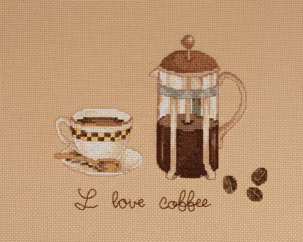 Набор для вышивки крестом Xiu crafts «Я люблю кофе» 2032004