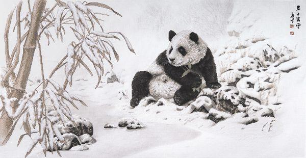 Набор для вышивки крестом Xiu crafts «Панда и бамбук» 2032103