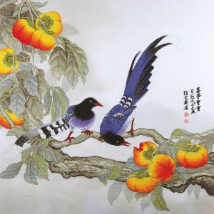 Набор для вышивки крестом Xiu crafts «Сороки и и хурма» 2030802