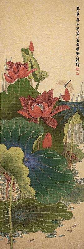 Набор для вышивки крестом Xiu crafts «Красный лотос» 2030826