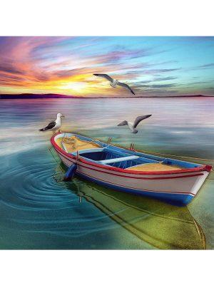 Алмазная мозаика РТО «Закат на озере» DE7119