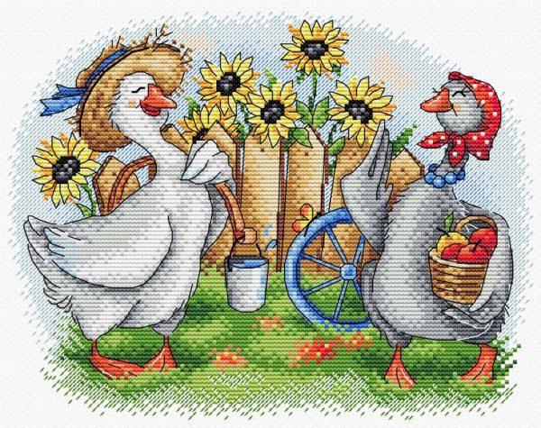 Набор для вышивания крестом М.П. Студия и Жар-птица «Два веселых гуся» М-567