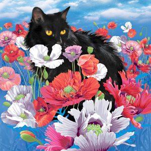 Алмазная мозаика РТО «Кот в маках» DE7100