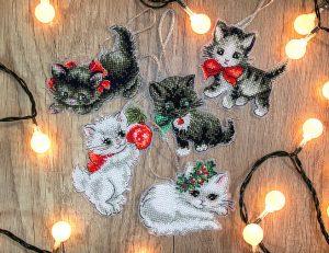 Наборы для вышивания в смешанной технике LUCA-S и LETISTITCH «Christmas Kittens Toys» LETI 987