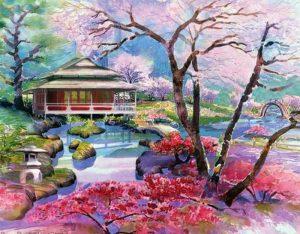 Алмазная мозаика РТО «Цветение сакуры» DE7111