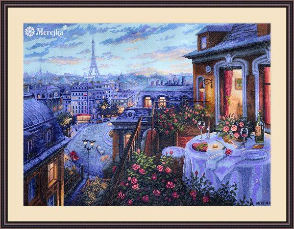 Набор для вышивания крестом Мережка «Романтический Париж» K-188