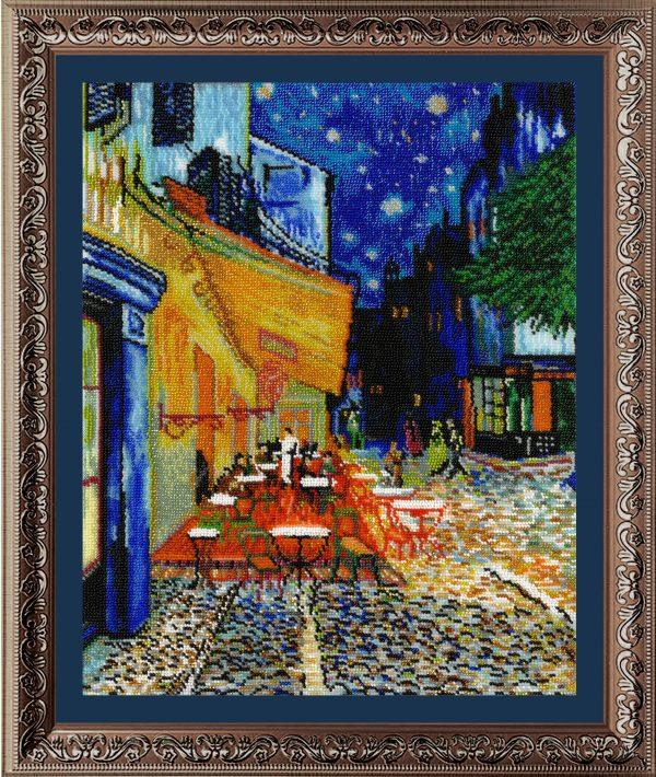 Набор для вышивания бисером Золотые Ручки «Ночная терраса кафе» МК-019