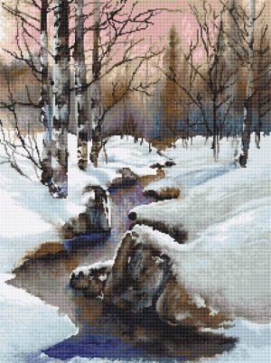 Купить набор для вышивания крестом LUCA-S «Зима» B609