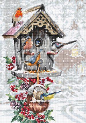 Купить набор для вышивания крестом LUCA-S «Птичий домик» B2399