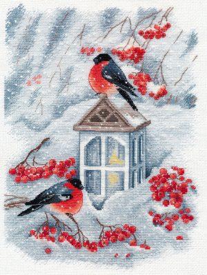 Купить набор для вышивания крестом Овен «А снег идет...» № 1415
