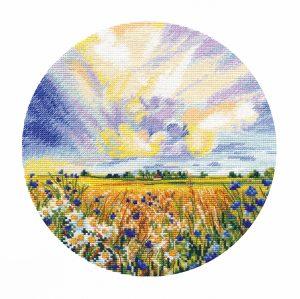 Купить набор для вышивания крестом Овен «Ромашковое поле» № 1422