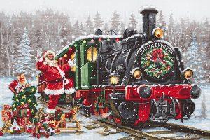Купить набор для вышивания крестом LUCA-S «Santa`s Express» B2397