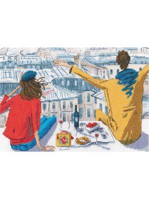 Купить набор для вышивания крестом РТО «Ветер крыш» M860