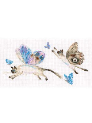 Купить набор для вышивания крестом РТО «Летучие коты» M847
