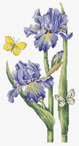 Купить набор для вышивания крестом LUCA-S «May Iris» B7001