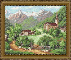 Купить набор для вышивания бисером «Летние Альпы» МК-020i