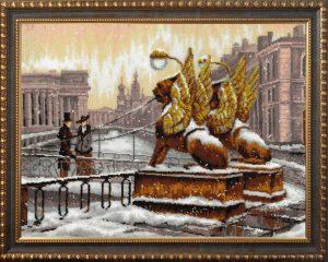 Купить набор для вышивания бисером Золотые ручки «Банковский мостик» ГП-008