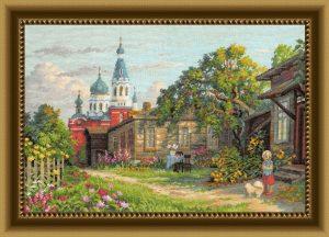 Купить набор для вышивания крестом Золотые ручки «Яблочный Спас» ЗХ-027