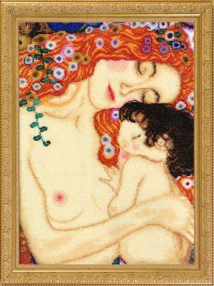 Купить набор для вышивания бисером Золотые ручки «Материнство» МК-021i
