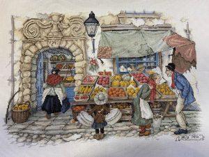 Купить набор для вышивания крестом Золотые ручки «Овощная лавка» МШ-002